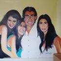 Kardashian Family Oil Painting 8ft X 6FT Oil