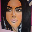 Kendall Jenner oil painting
